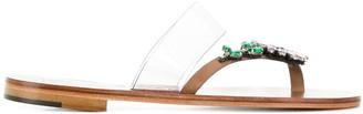 Álvaro González embellished flat sandals