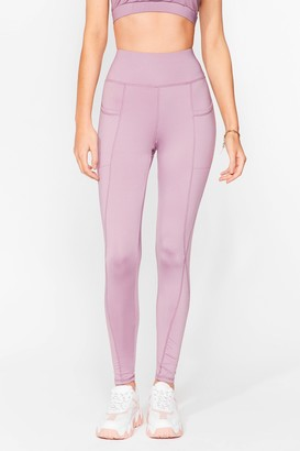 Nasty Gal Womens Sport Yourself Out Workout Leggings - Purple - 6