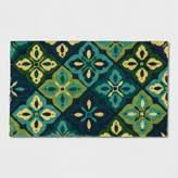 "Threshold Blue Floral Doormat 1'6""X2'6"""
