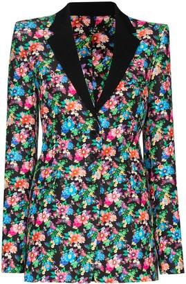 Paco Rabanne Floral Print Blazer Jacket