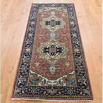"""R & E Darby Home Co One-of-a-Kind Mannino Re Creation Hand-Knotted Runner 2'7"""" x 6'1"""" Wool Red Area Rug Darby Home Co"""