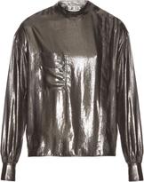 Etoile Isabel Marant Melva long-sleeved lamé shirt