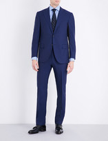 Corneliani Slim-fit check-print wool suit