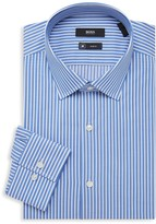 HUGO BOSS Jenno Slim-Fit Pinstripe Dress Shirt