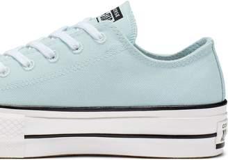 Converse Renew Canvas Chuck Taylor All Star Platform Low Top - Light Blue/White