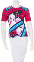 Mary Katrantzou Digital Print Short Sleeve Top w/ Tags