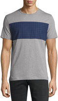 Original Penguin Grid-Print Relaxed Tee, Castle Rock