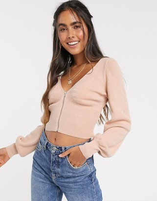 Asos DESIGN cropped jumper with corsetry detail