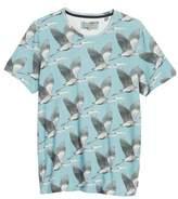 Ted Baker Flute Blue Heron Print T-Shirt