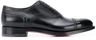 Santoni perforated low-heel oxford shoes