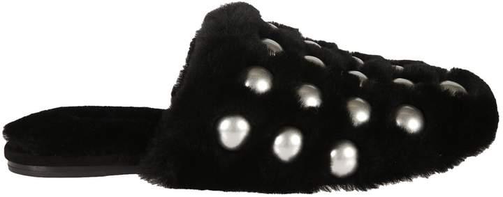 Alexander Wang Fur Amelia Slide Sandals