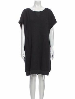 Dries Van Noten Scoop Neck Knee-Length Dress Grey