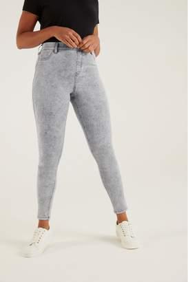 F&F Womens Jegging Acid Light Grey Jeans - Grey