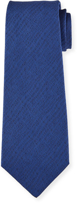 Kiton Men's Solid Herringbone Silk Tie