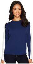 Lacoste Color Block Double Face Jacquard Cotton/Wool Sweater Women's Sweater