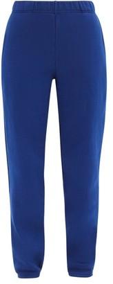 LES TIEN Classic Brushed-back Cotton-jersey Track Pants - Blue