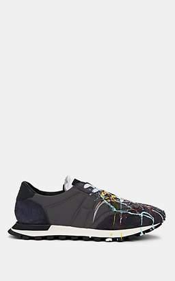 """Maison Margiela Men's """"Replica Runner"""" Suede & Mesh Sneakers - Navy"""