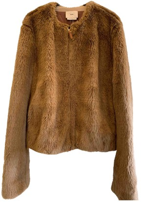 Edun Brown Faux fur Coat for Women