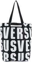 Versus lettering dual-carry tote