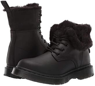 Dr. Martens 1460 Kolbert Wintergrip (Black Snowplow Waterproof/Black Waxy Suede Waterproof) Women's Boots
