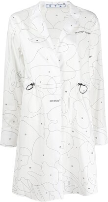 Off-White Puzzle print shirtdress