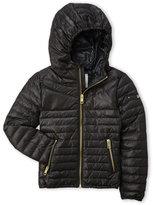 Diesel Girls 4-6x) Black Hooded Puffer Jacket