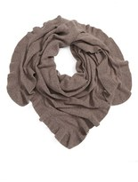 Nordstrom Women's Cashmere Ruffle Triangle Wrap
