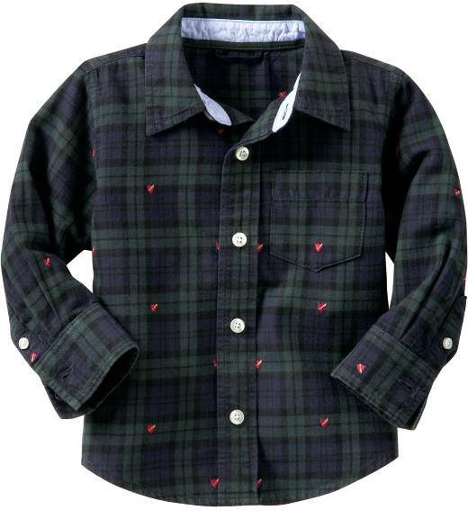Gap Embroidered plaid shirt