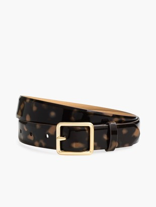 Talbots Patent Leather Tortoise Belt