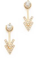 Rebecca Minkoff Double V Front & Back Earrings