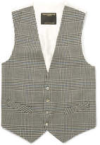 Favourbrook Black Clarence Prince Of Wales Checked Wool Waistcoat