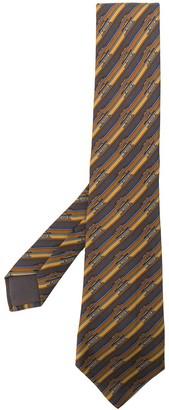 Hermes Pre-Owned Little Boat Print Tie