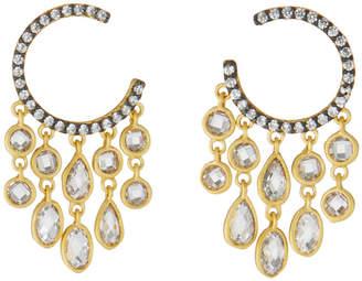 Freida Rothman C-Hoop Chandelier Earrings
