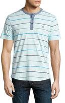 Original Penguin Striped Short-Sleeve Shirt, Crystal Blue