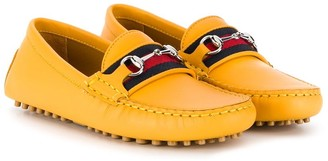 Gucci Kids Jordaan leather loafers