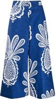 La DoubleJ pineapple print cropped trousers