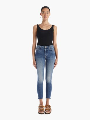 Mother High Waisted Looker Ankle Fray - Walking On Coals