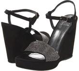 Stuart Weitzman Whatastud (Black Nubuck) - Footwear