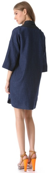 Sonia Rykiel Sonia by Collared Combo Dress