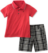 Calvin Klein 2-Pc. Polo & Shorts Set, Toddler & Little Boys (2T-7)