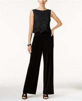 Thalia Sodi Lace-Overlay Jumpsuit, Only at Macy's
