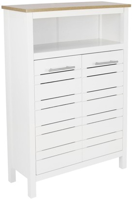 Lloyd Pascal Hampton Bathroom Console Unit - White/Oak Effect