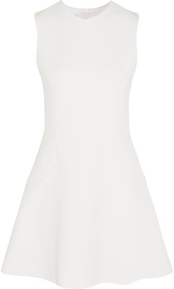 Victoria Beckham Flared Crepe Mini Dress