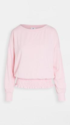 Sundry Smocked Waist Sweatshirt