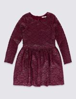 Marks and Spencer Round Neck Lace Dress (5-14 Years)