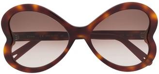 Chloé Oversized Tortoise-Shell Sunglasses