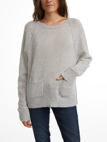 White + Warren Cashmere Pocket Sweatshirt