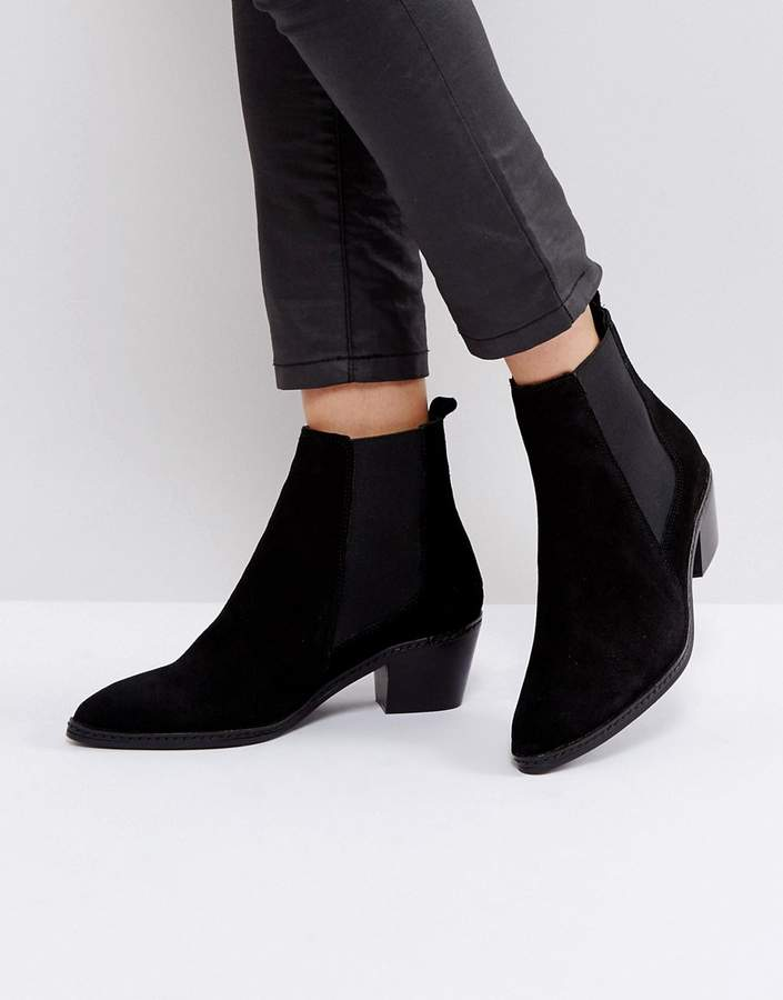 H By Hudson Leather Ankle Boots