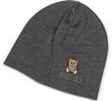 Moschino Solid Wool Teddy Bear Hat