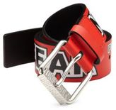 Moschino Printed Leather Belt